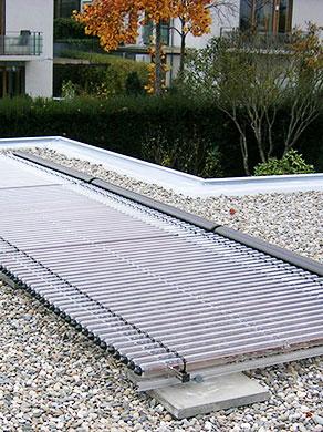 Solarwärme - Solarthermie liefert Wärme für Heizung und warmes Wasser