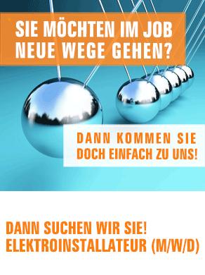 Motiv Anzeige Eletroinstallateur Walter Vögele